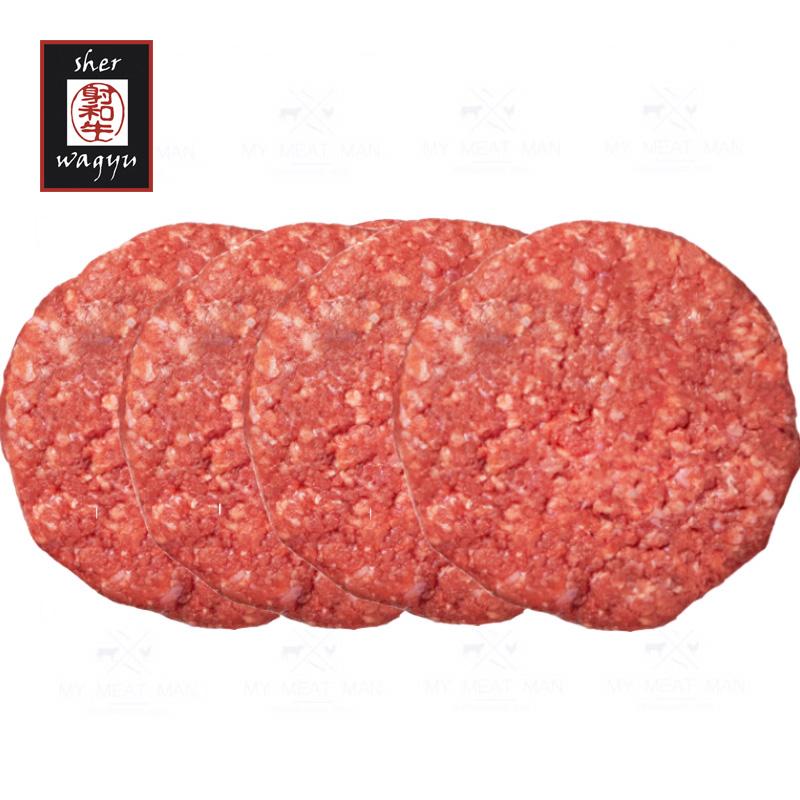 Australian Frozen Sher Wagyu MB8-9 Beef Hamburger - (pack of 4 pc - 180g each)