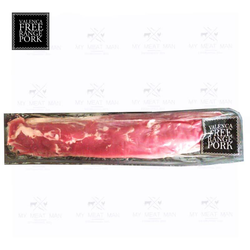Australian Frozen Valenca Free Range Pork Tenderloin Side Strap