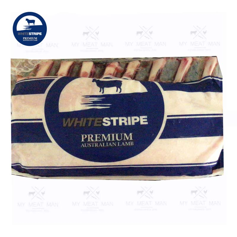 Australian Frozen Grass Fed White Stripe Premium Lamb Rack Frenched Cap On
