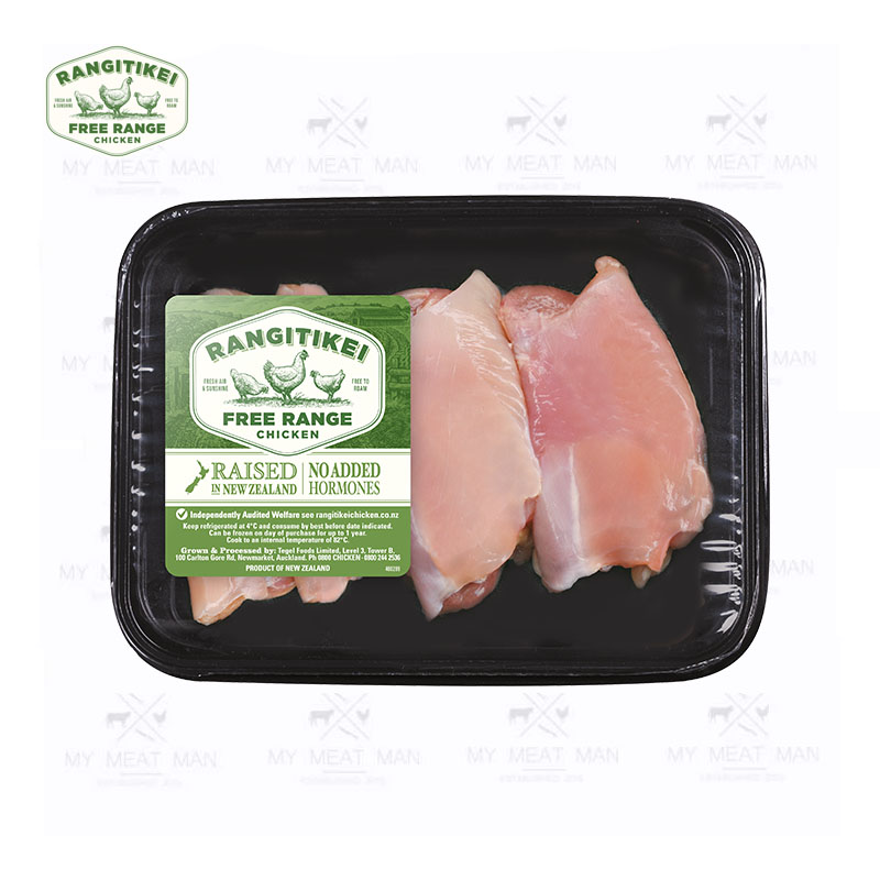 New Zealand Chilled Rangitikei Accredited Free Range Chicken Thigh Fillets - skinless
